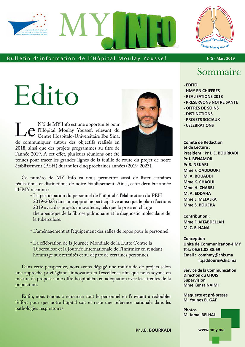 Bulletin d'Information N°5 de l'Hôpital Moulay Youssef